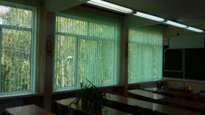 Тканевые вертикальные жалюзи в Михневскую школу
