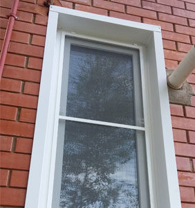 Пластиковое окно в помещение котельной частного дома