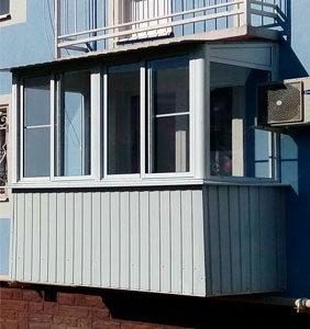Остекление и отделка балкона в Новом Ступино под ключ