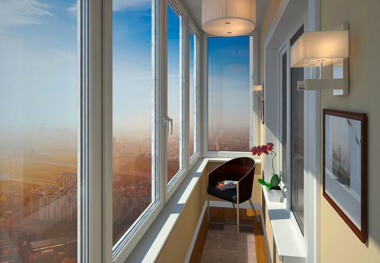 Застеклить балкон пластиковыми окнами цена москва панорама с.