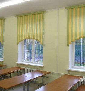 Установка вертикальных жалюзи в 3 школе города Ступино